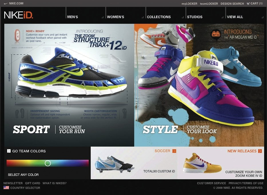 best sneakers ba368 3b0c4 NIKEiD Web site   Communication Arts
