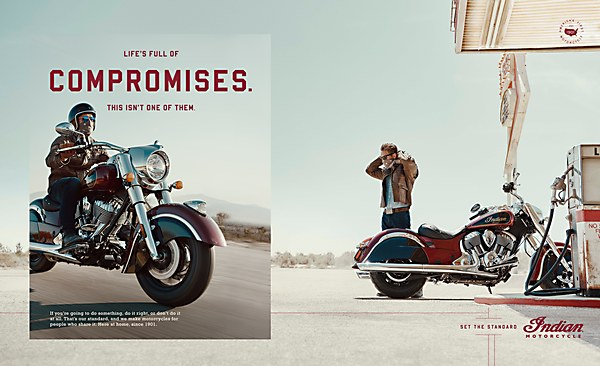 Indian Motorcycle campaign recognized by Communication Arts
